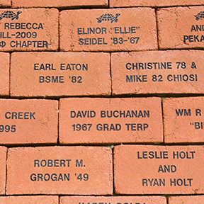 Legacy Bricks in place at the Samuel Riggs IV Alumni Center