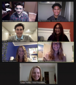 Magdi Elghannam '22 and colleagues on a Zoom meeting