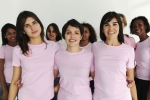 Women in Pink Tshirts for Breast Cancer